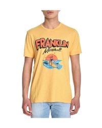 Franklin & Marshall - Men's Yellow Cotton T-shirt for Men - Lyst