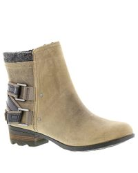 Sorel - Black Womens Lolla Fabric Almond Toe Ankle Fashion Boots - Lyst