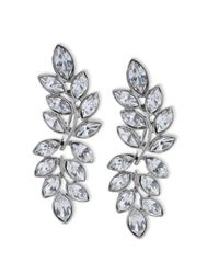 Kenneth Jay Lane - Metallic Women's Silver/crystal Earring - Lyst