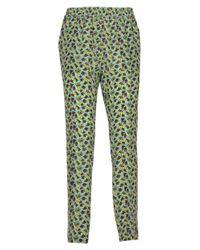 Etro - Women's 1613104311500 Green Silk Pants - Lyst