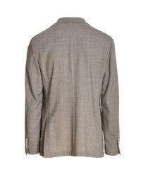 Eleventy - Brown Men's Beige Polyester Blazer for Men - Lyst