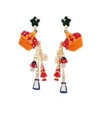 Les Nereides - Red Into The Woods Hamper Pouring Charms Earrings - Lyst