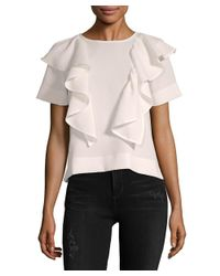 Lucca Couture - Pink Ruffle Top - Lyst