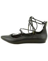 Madden Girl - Black Edgyy Women Round Toe Synthetic Ballet Flats - Lyst