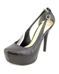 Guess - Black Jacoba Open Toe Synthetic Platform Heel - Lyst