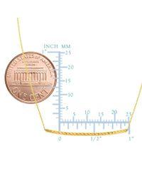 JewelryAffairs - 14k Yellow Gold Sideways Curved Bar Pendant Necklace, 17 - Lyst