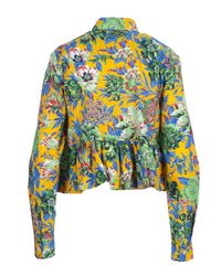 MSGM - Women's Multicolor Cotton Shirt - Lyst