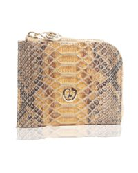 Nada Sawaya - Natural Medium Zip Around Python Wallet - Lyst