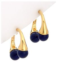 Noir Jewelry - Blue 18k Plated Lapis Earrings - Lyst