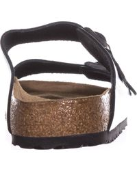 Birkenstock - Amalfi Double Strap Sandals, Black - Lyst