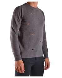 Dondup - Gray Men's Grey Wool Sweater for Men - Lyst
