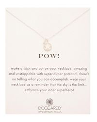 Dogeared - Metallic Silver Pow Necklace - Lyst
