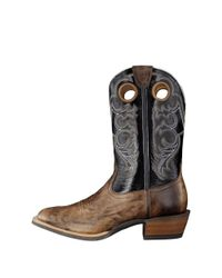 Ariat - Crossfire Men 2e Round Toe Leather Black Western Boot for Men - Lyst