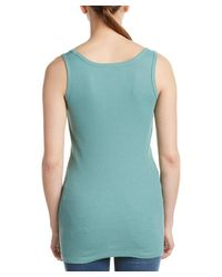 French Connection | Blue Ribbed Tank | Lyst