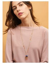 Les Nereides - Blue Atlantide Cabochon Anemone And Charms Long Necklace - Lyst