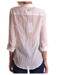 Peuterey - Women's White Cotton Shirt - Lyst