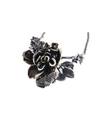 Roberto Cavalli - Metallic Women Swarovski Embellished Rose Collar Necklace - Lyst