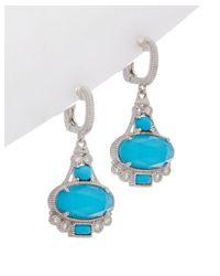 Judith Ripka - Blue Aspen Silver Drop Earrings - Lyst
