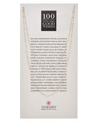 Dogeared - Metallic 100 Good Wishes Silver 39in Necklace - Lyst