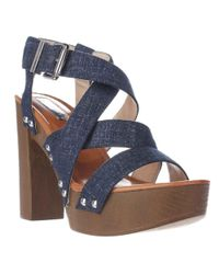 INC International Concepts - I35 Camira Platform Strapped Sandals, Eclipse Blue - Lyst