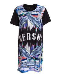Versus  - Blue Women's Multicolor T-shirt - Lyst