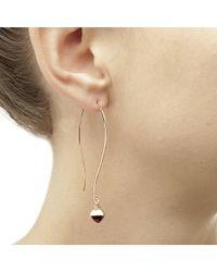 Jewelista - Pyramid Cabochon Blue Topaz Long Wire Earrings - Lyst