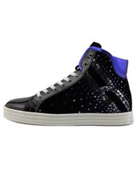 Hogan - Blue Slay Round Toe Leather Sneakers - Lyst