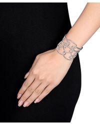 Catherine Malandrino - Metallic Interlace Cuff Bracelet In Sterling Silver - Lyst