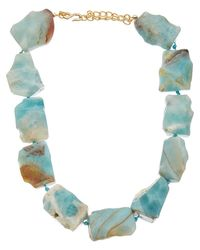 Kenneth Jay Lane - Multicolor Plated Amazonite Necklace - Lyst