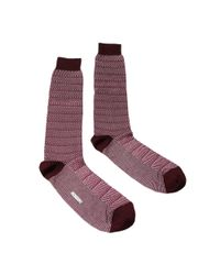 Missoni - Red Gm00cmu3558 0001 Maroon/fuschia Knee Length Socks - Lyst