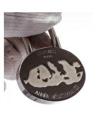 Hermès - Metallic Pre Owned- Silver Palladium Année Méditerranée Lock Charm - Lyst
