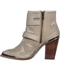 Kensie - Multicolor Hamlin Buckle Strap High Ankle Boots, Winter White - Lyst