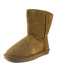 BEARPAW - Purple Womens Elizabeth Suede Closed Toe Mid-calf Fashion Boots - Lyst