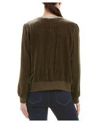 Ecru - Green Silk-blend Jacket - Lyst