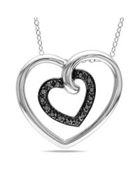 Catherine Malandrino - Metallic Double Heart Pendant With Chain - Lyst