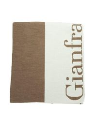 Gianfranco Ferré - Scr 01948 Brown/beige Knitted Signature Wool Blend Mens' Scarf for Men - Lyst