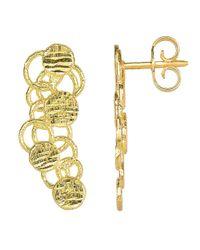 JewelryAffairs - 14k Yellow Gold Grape Cluster Drop Post Earrings - Lyst