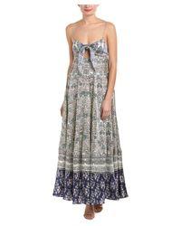 Hemant & Nandita - Blue Rococo Sand Stamp Silk Maxi Dress - Lyst