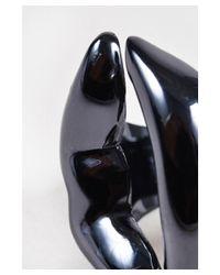 Bernard Delettrez - Multicolor 11 Nwot Gunmetal Plated Bronze Lips Ring Sz 6 - Lyst