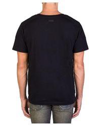 Balmain - Men's V-neck T-shirt Black for Men - Lyst
