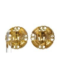 Chanel - Metallic Pre Owned - Goldfaux Pearl Clip On Earrings - Lyst