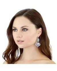 Kristin Perry - Metallic Floral Gem Earrings - Lyst