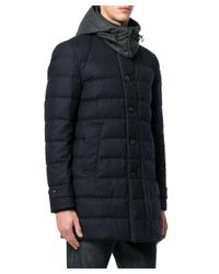 Moncler - Men's Blue Wool Coat for Men - Lyst