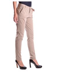 Liu Jo - Brown Women's Mcbi191355o Beige Cotton Pants - Lyst