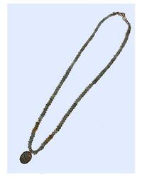 Blue Candy Jewelry - Green Mossy Aquamarine Diamond Necklace - Lyst