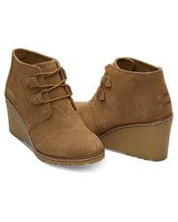 TOMS - Brown Women's Desert Wedge Casual Shoe - Lyst