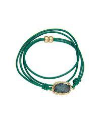 Saachi - Blue Crystal Wrap Bracelet - Lyst