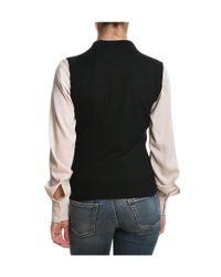 Eleventy - Women's Black Acrylic Vest - Lyst