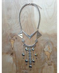 Love Leather - Multicolor Silver Palace Necklace - Lyst
