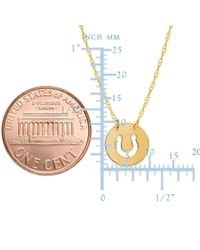 "JewelryAffairs - 14k Yellow Gold Mini Horse Shoe Pendant Necklace, 16"" To 18"" Adjustable - Lyst"